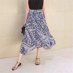 TOM & RABBIT - Geometric Pattern Long Skirt