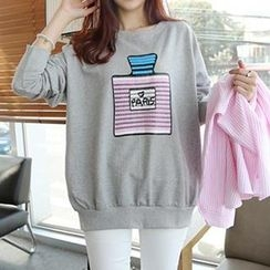 Lina - Long Sleeved Print Pullover