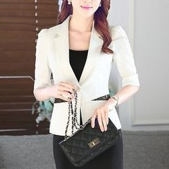 illusione - Set: Elbow-Sleeve Jacket + Pencil Skirt