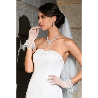 YesStyle Wedding - Frilled Lace-Trim Bridal Gloves