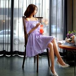 Dabuwawa - Off-Shoulder Chiffon Dress