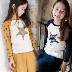 TWINSBILLY - Kids Raglan-Sleeve Star Print T-Shirt