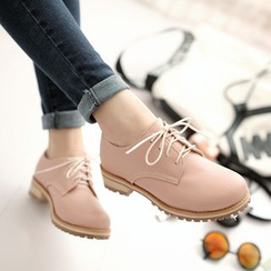Pastel Pairs - Faux Leather Oxfords