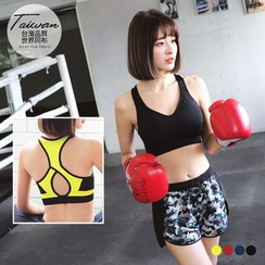 OrangeBear - Sports Cutout-Back Bra
