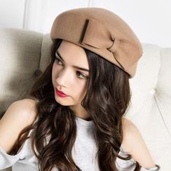BADA - 蝴蝶結貝雷帽