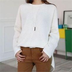 CHICFOX - Drop-Shoulder Ribbed T-Shirt