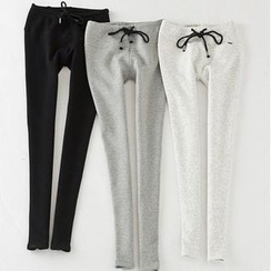 Ando Store - Drawstring Fleece-Lined Leggings