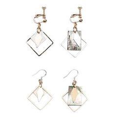 Heynew - Non-Matching Drop Earrings