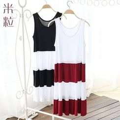 Grainie - Color Panel Midi Tank Dress
