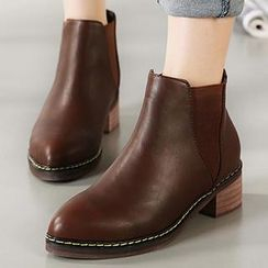 Mancienne - Pointy-Toe Ankle Boots
