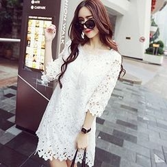 Arroba - 3/4-Sleeve Lace Dress