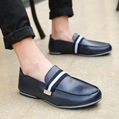 Preppy Boys - Contrast-Stripe Loafers