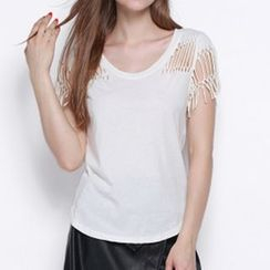 Obel - Perforated Back Short Sleeve T-Shirt