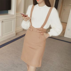 Diado - Bow Detail Suspender Skirt
