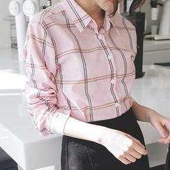 mimi&didi - Plaid Loose-Fit Shirt
