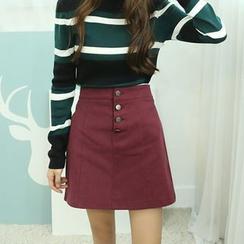 Dodostyle - Band-Waist A-Line Skirt