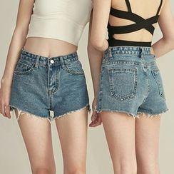 HORG - Fray Denim Shorts
