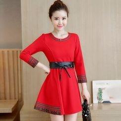 Yumerakka - 3/4-Sleeve A-line Dress