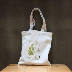 AnnJay Bags - Floral Print Canvas Shopper Bag