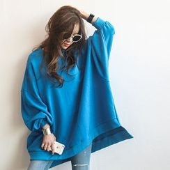 NANING9 - Dip-Back Oversized Sweatshirt