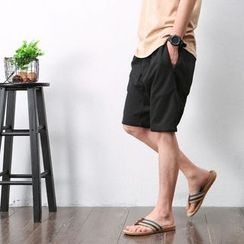 Mrlin - Drawstring Harem Shorts