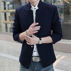 Besto - Mandarin Collar Single-Breasted Jacket