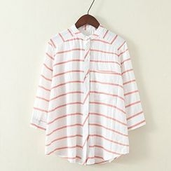 ninna nanna - 3/4-Sleeve Striped Shirt