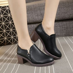Hannah - Chunky Heel Shoes