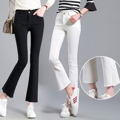 GLIT - Fray Boot-cut Pants