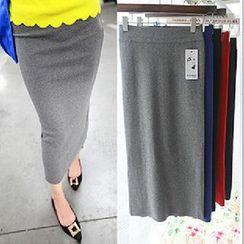 Coralie - Elastic Pencil Midi Skirt