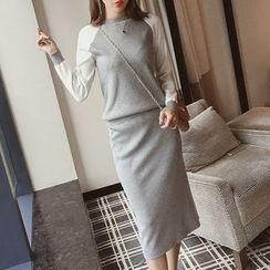 Yamster - Set: Raglan Knit Top + Skirt