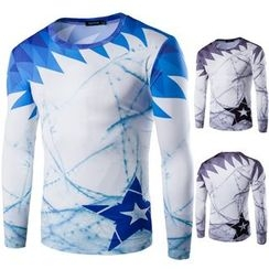 Blueforce - Printed Quick Dry Sports Long-Sleeve T-Shirt