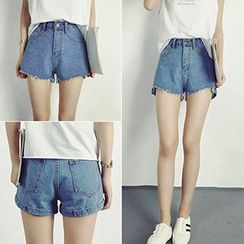 Tiny Times - High-Waist Denim Shorts