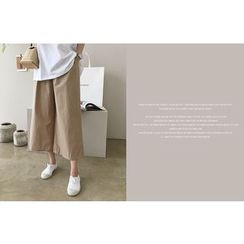 DAILY LOOK - Band-Waist Wide-Leg Pants