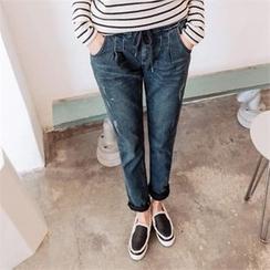 JOAMOM - Band-Waist Straight-Cut Jeans
