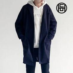 Chuoku - Single-Breasted Longline Cotton Coat