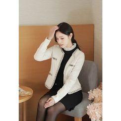 MyFiona - Tweed-Piped Textured Jacket