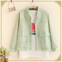 Fairyland - Stand-collar Buttoned Baseball Jacket