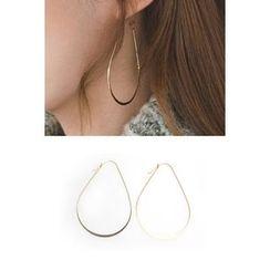 migunstyle - Metallic Dangle Earrings