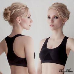 Naya Nina - Contrast Elasticized Sporty Wireless Bra