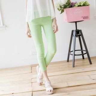 Tokyo Fashion - Contrast-Trim Cropped Skinny Pants