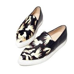 Mancienne - Hands Print Pointy Loafers