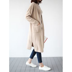 STYLEBYYAM - Open-Front Long Cardigan