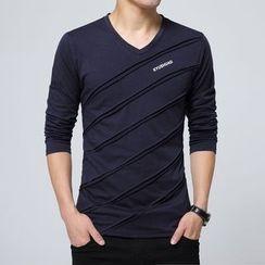Jazz Boy - Long-Sleeve V-Neck T-Shirt