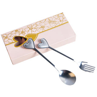 Fork & Spoon Set - Silver