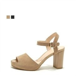 MODELSIS - Open-Toe Ankle-Strap Pumps