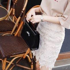 mimi&didi - Lace-Overlay Pencil Skirt