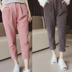 Melon Juice - Corduroy Cropped Pants