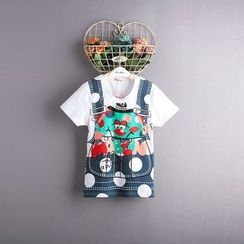 Kidora - Kids Mock Two-Piece Short-Sleeve T-Shirt