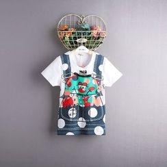 Kidora - 儿童假两件短袖T裇